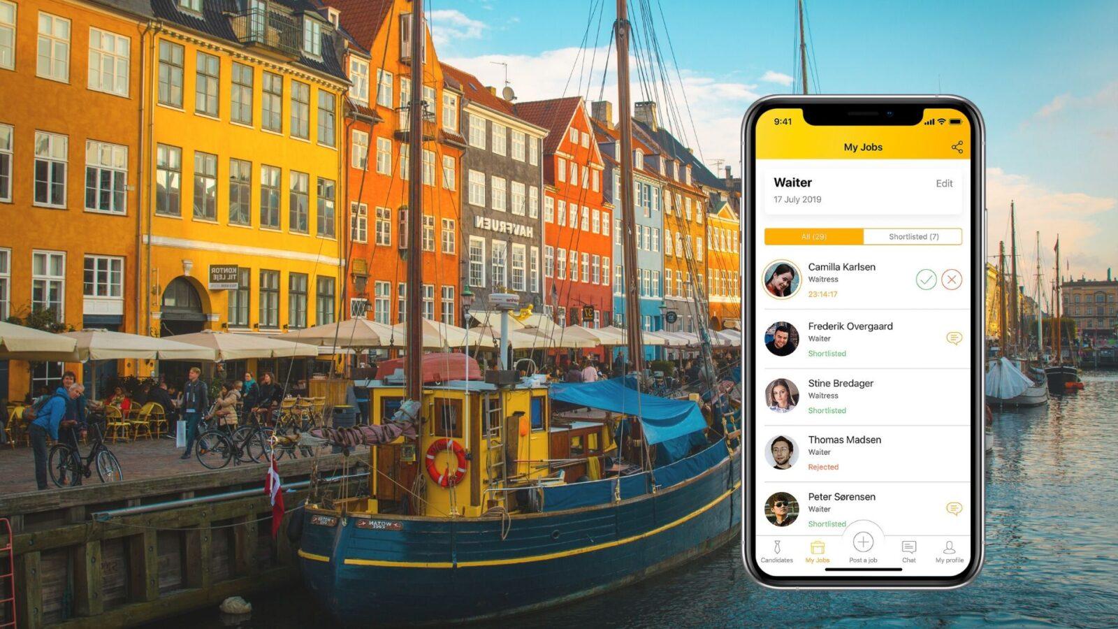"""""""Wauw! Det er virkelig hurtigt"""". Hvordan en ny app ændrer rekrutteringsprocessen i Danmark"""